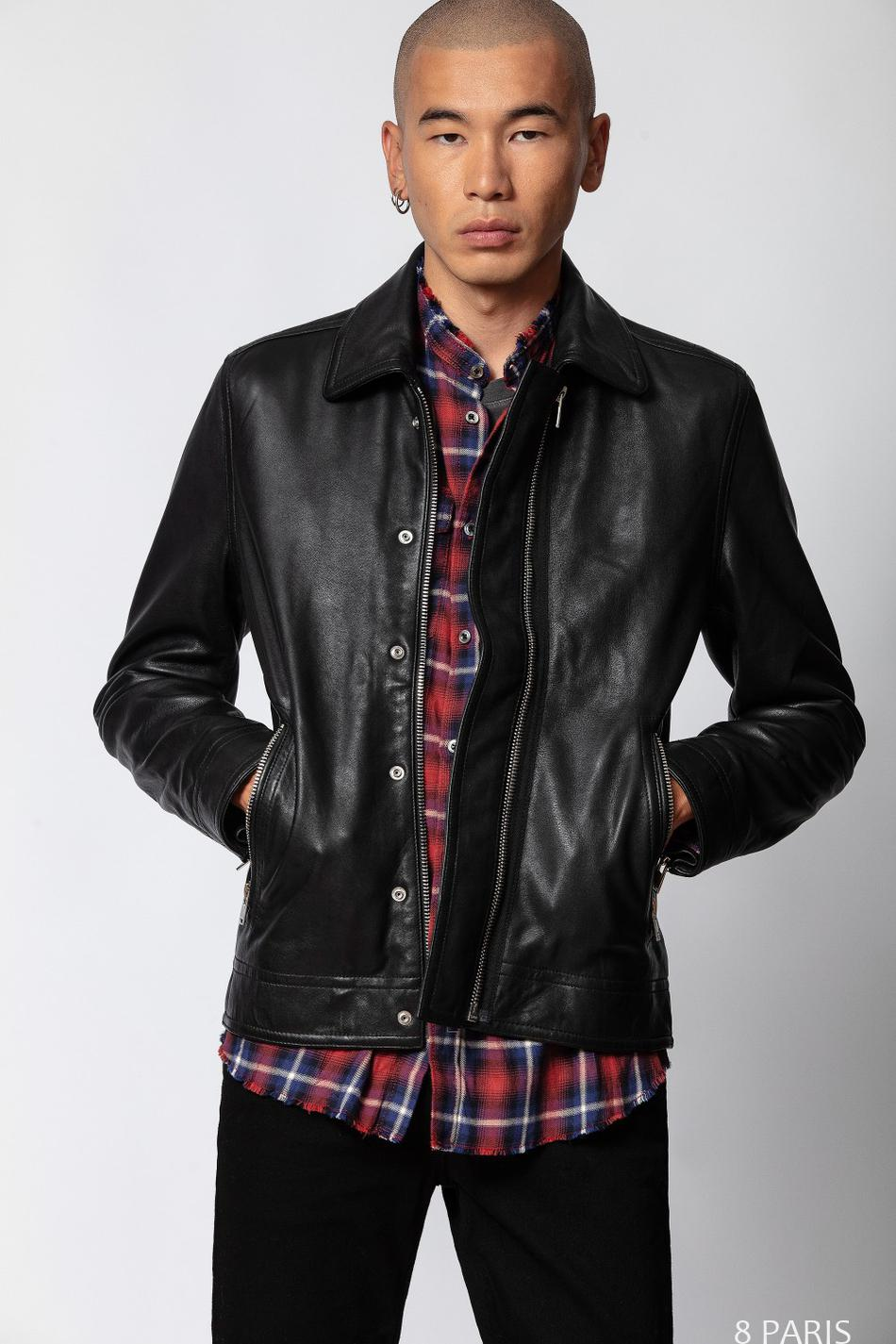 Veste Lam Cuir Washed